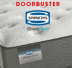 Plush Simmons Bamboo Cay queen mattress set now only $799 at American Mattress