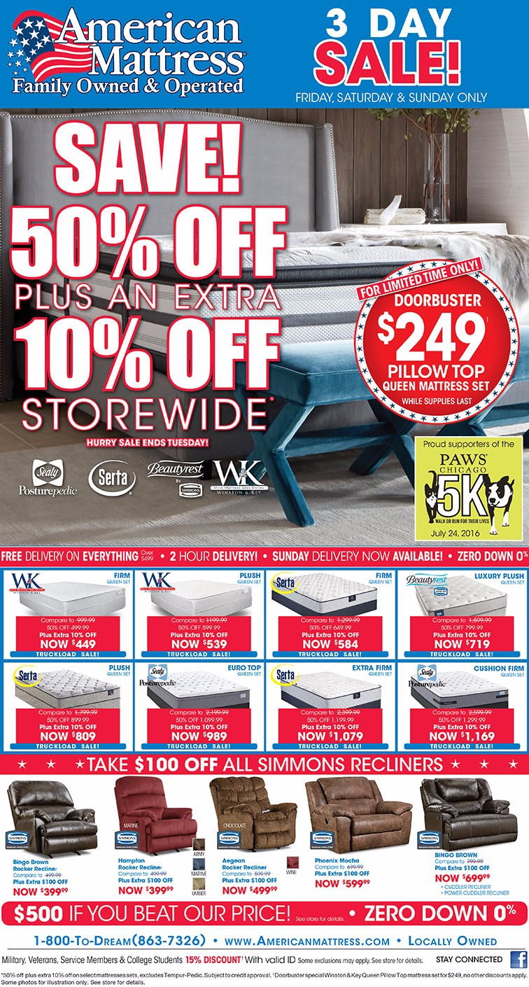 American Mattress Truckload Sale!