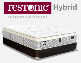 Restonic Hybrid Queen Mattress set now only $1299 at American Mattress